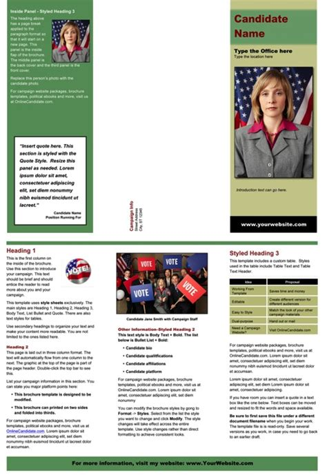 100 political brochure template political brochure