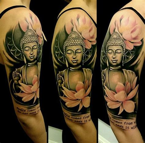 buddha tattoo sleeve best 25 buddha lotus ideas on buddha