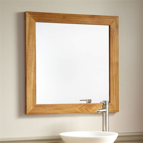 Oval Bathroom Sinks Wulan Teak Mirror Natural Teak Bathroom