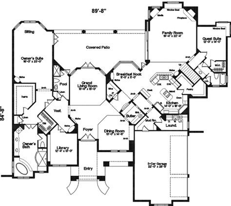 french style floor plans french country style house plans 5500 square foot home