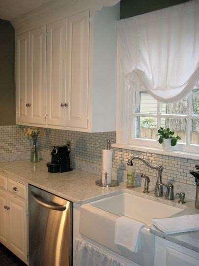 Cape Cod Kitchen Curtains Andy S Cape Cod Subway Tile Backsplash Cape Cod Kitchen And Cabinets