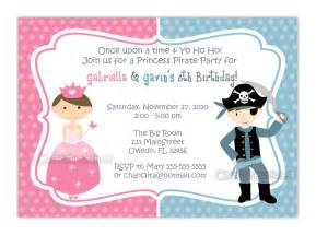 princess and pirate or zebra or dots background birthday invitation you print