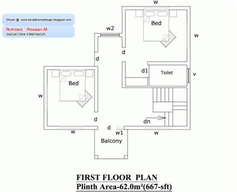 Karala 750 House Plans Com House Floor Plans 750 Sq Ft House In Kerala