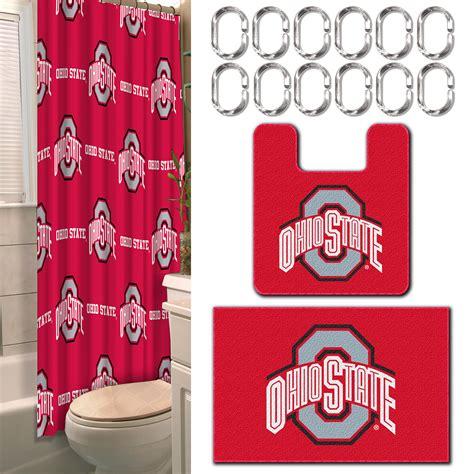 ohio state bathroom ncaa ohio state university buckeyes bathroom set