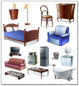 object room furniture bedroom vector objects