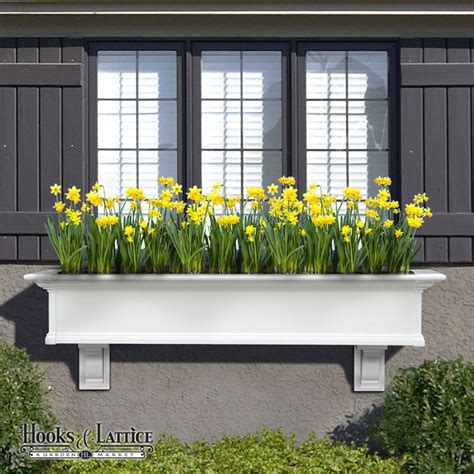 Planter Box In Front Of House by Provincial Vinyl Window Box Top Quality Low Maintenance