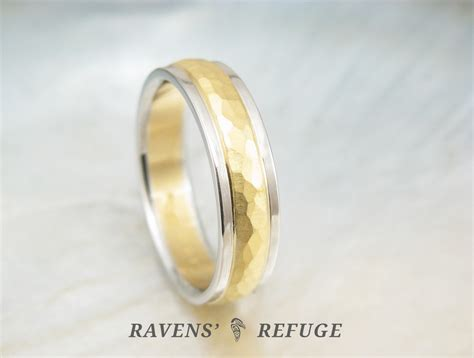Handmade Mens Wedding Bands - handmade s wedding ring 22k gold and platinum band