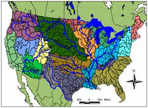 United States Major River Systems Map by Rivers Of Life Watershed Map Quiz 5 Answer