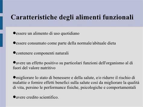 alimenti funzionali alimenti funzionali e nutraceutici