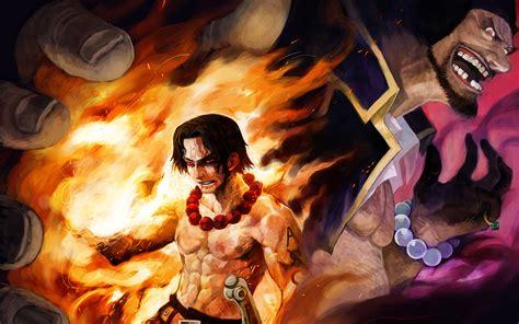 anime one ace portgas d ace vs marshall d teach wallpaper and