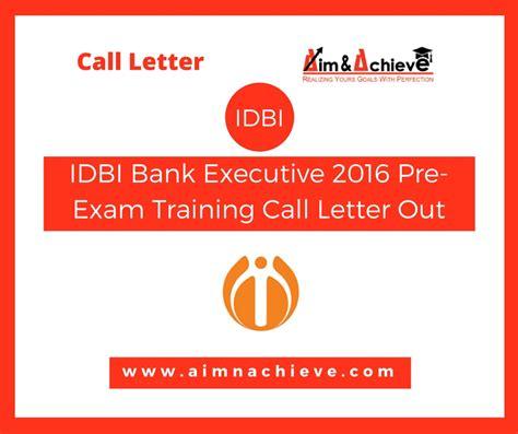 Idbi Bank Letterhead Format idbi bank executive 2016 pre call letter out
