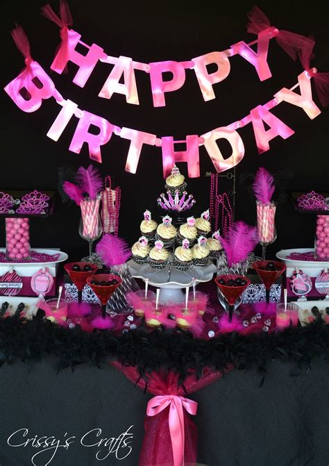 blackpink birthday pink and black party decorations party favors ideas