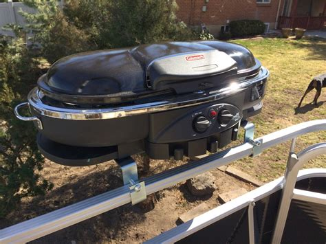 grill on a pontoon boat best bbq grill for your pontoon diy xploring america