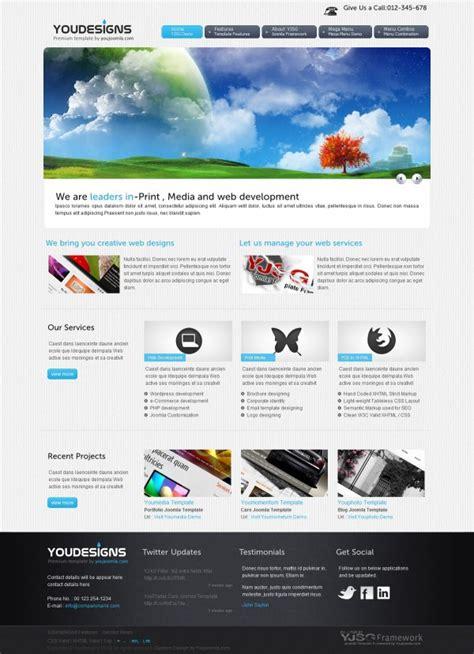 youdesigns designer portfolio joomla template