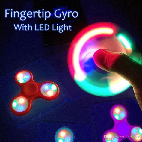 Fidget Spinner Led Quality T0210 7 led fidget spinner light upgrades add switch led spinner