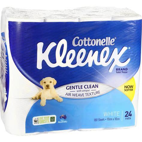 kleenex toilet roll kleenex cottonelle toilet tissue white 24pk woolworths