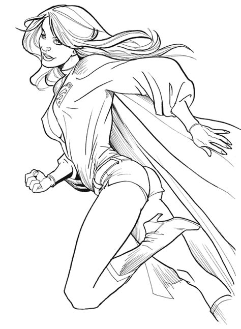 Superwoman Coloring Pages Coloring Pages Superwoman Coloring Pages