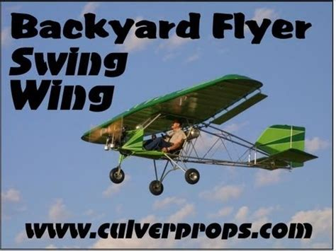 backyard flyer ultralight backyard flyer swing wing part 103 legal ultralight aircraft from valley engineering