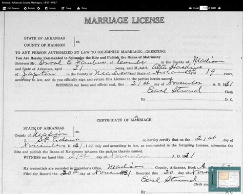 Ms Marriage Records Article Historic Arkansas Marriage Records By Paul Nauta