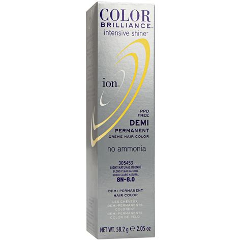 what does demi permanent hair color ion color brilliance intensive shine 8n light