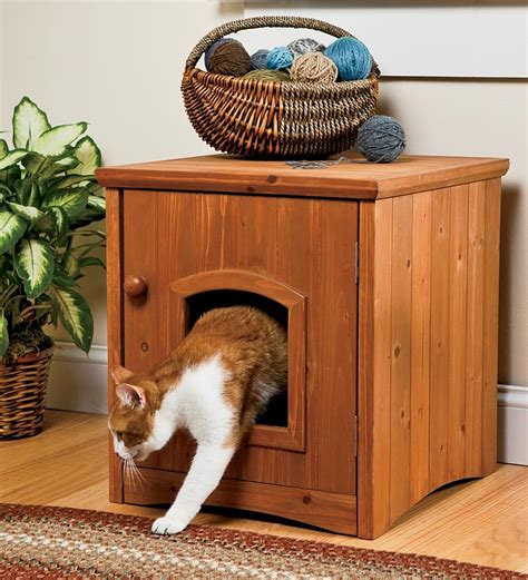 Cat Litter Cabinet by Cat Litter Box Pet Bathroom Cabinet Wooden Restroom Stand
