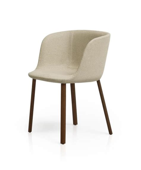 Padded Small Armchair With Wooden Legs In Various Small Dining Chair