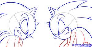 How to draw shadow and sonic step by step sonic characters pop