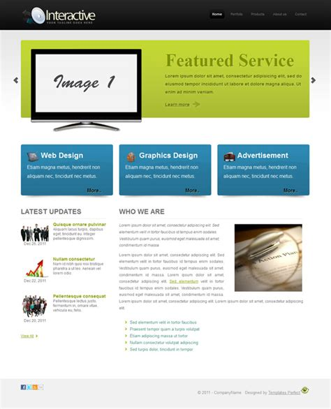 Free Css Business Website Template Interactive Templates Perfect Free Interactive Website Templates