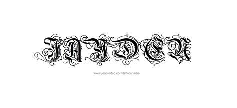 tattoo ideas for the name jayden jayden name tattoo designs