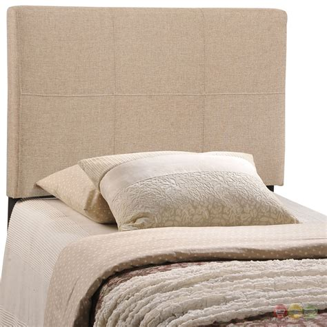 modern padded headboard oliver modern fabric upholstered twin headboard beige