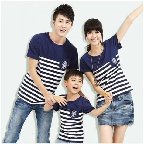 Navy Kaos Lengan Panjang Anak Perempuantoddler toko grosir jual baju kaos keluarga sailor navy salur