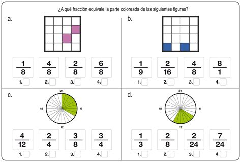 imagenes matematicas de fracciones ejercicos de fracciones para repasar en primaria