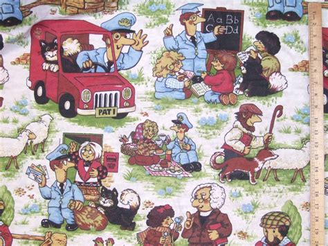 postman pat curtains clearance postman pat woven cotton fabric 72 quot wide save 50