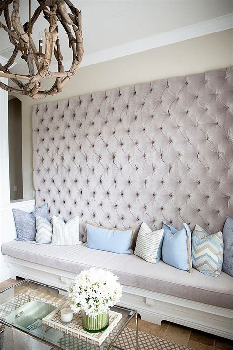 Cushioned Bench 11 Trendy Rooms With Tufted Wall Panels