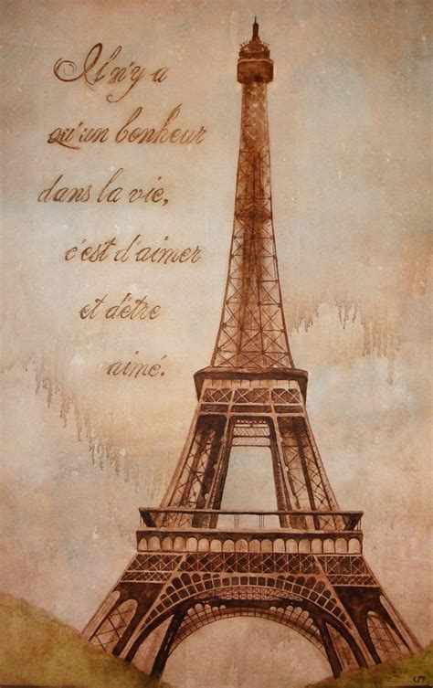 eiffel tower painting eiffel tower to be loved eiffel tower painting and george