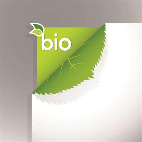 corner template bio design vector free vector in