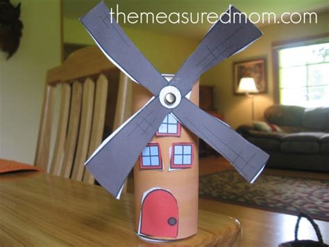 Paper Windmill Craft - letter w crafts the measured
