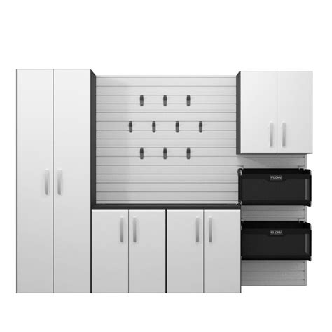 home depot garage cabinet flow wall 72 in h x 96 in w x 16 in d 5 deluxe cabinet set white shop your way