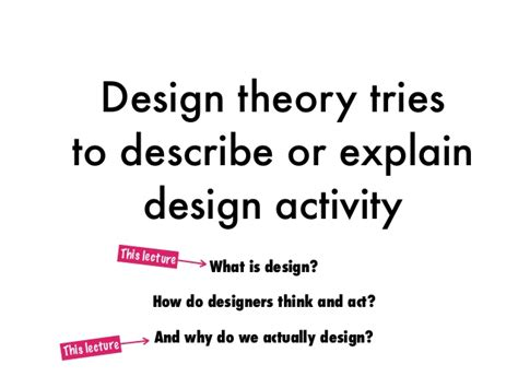 Design Thinking Experiment | design theory lecture 01 what is design