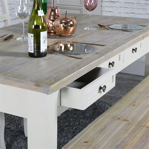 large dining table with bench large grey 8 drawer dining table with bench and 2 chairs