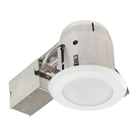 globe electric recessed lighting installation globe electric 5 in white led ic rated shower lens