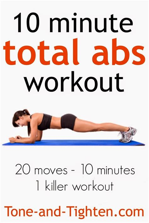10 minute total abs workout on tone and tighten 20