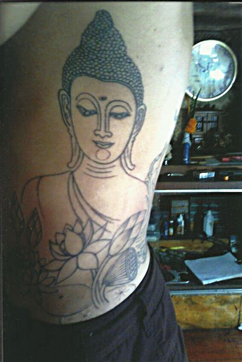 star needle tattoo koh samui buddha with lotus flowers big magic tattoo koh phangan