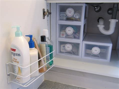 organize bathroom cabinet sink everyday organizing the most of your