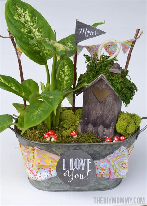 backyard gifts mini fairy garden in a tin gift handmade mother s day gift ideas the diy mommy