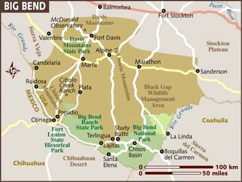 big bend national park texas map durango to best stops airstream forums