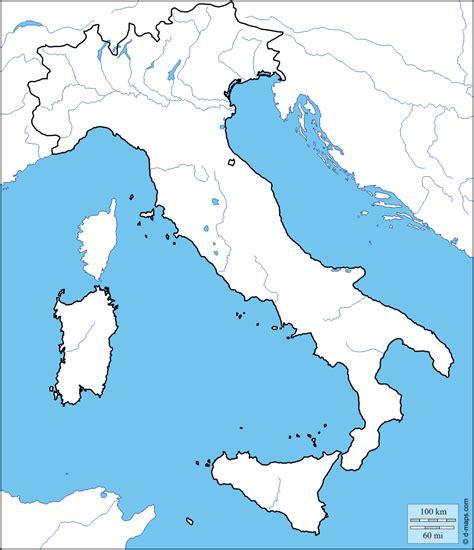 cartina muta italia cartina muta italia con fiumi e laghi