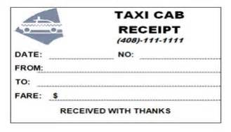 Nyc Taxi Receipt Template Yellow Cab Receipt Submited Images