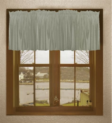 12 Inch Valance 12 Inch Silver Window Valance On Clearance