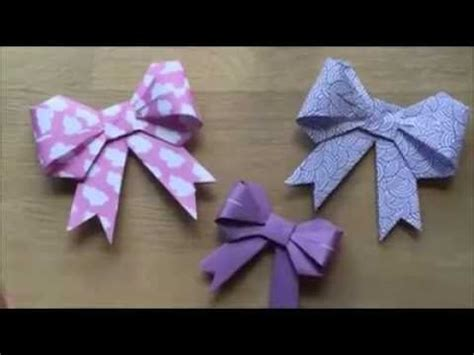 cara bungkus kado pita cara membuat hiasan kado origami youtube